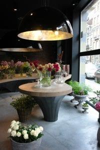 Interieur bloemenwinkel Brussel 1