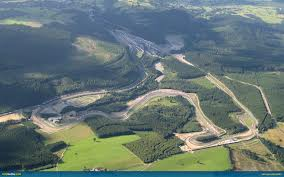 The beautiful racing circuit of Francorchamps