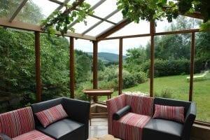 Serre/veranda met uitzicht Vakantiehuis